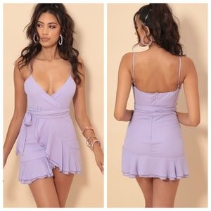 Lucy in the Sky Dresses - NEW Lucy in the Sky  Lavender Chiffon Ruffle Dress